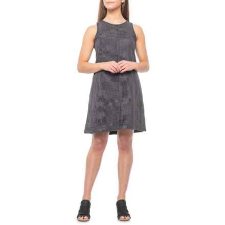 dylan Grey-Black Gingham Whitney Dress - Sleeveless (For Women) in Grey/Black - Closeouts