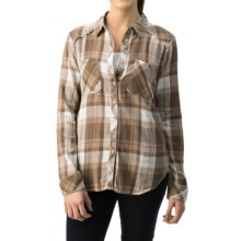 dylan Harley Flannel Shirt - Long Sleeve (For Women) in Khaki/Blue - Closeouts