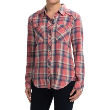 dylan Harley Flannel Shirt - Long Sleeve (For Women) in Washed Red/Ind - Closeouts
