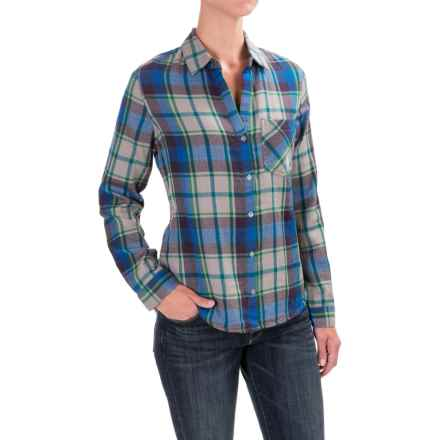 dylan Harley Plaid Shirt - Long Sleeve (For Women) in Vintage Green - Closeouts