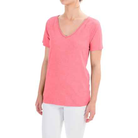 dylan Haze Heathered Vintage T-shirt - Organic Cotton, Short Sleeve (For Women) in Pink - Closeouts