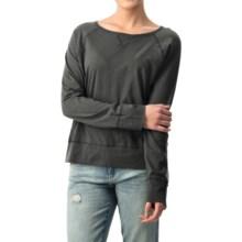 dylan Haze Raglan Shirt - Organic Cotton, Long Sleeve (For Women) in Vintage Black - Closeouts