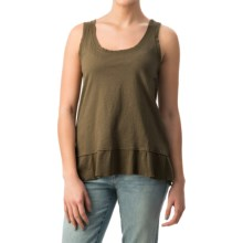 dylan Haze Rough-Edged Tank Top - Organic Cotton (For Women) in Cargo - Closeouts
