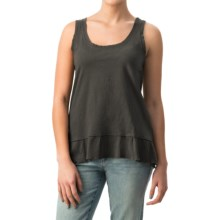 dylan Haze Rough-Edged Tank Top - Organic Cotton (For Women) in Vintage Black - Closeouts