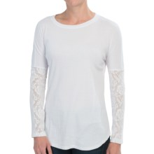 dylan Heather and Lace Shirt - Long Sleeve (For Women) in White - Closeouts