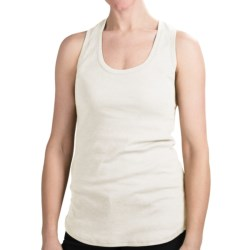 Dylan Heathered Tank Top - Racerback (For Women) in White