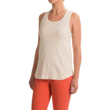 dylan High-Low Waffle Tank Top (For Women) in Chalk - Closeouts