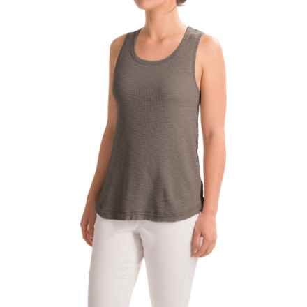 dylan High-Low Waffle Tank Top (For Women) in Vintage Grey - Closeouts
