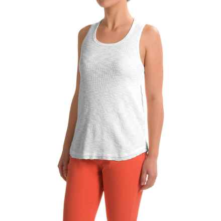 dylan High-Low Waffle Tank Top (For Women) in White - Closeouts