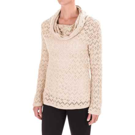dylan Hippie Chic Cowl Neck Sweater (For Women) in Winter White - Closeouts