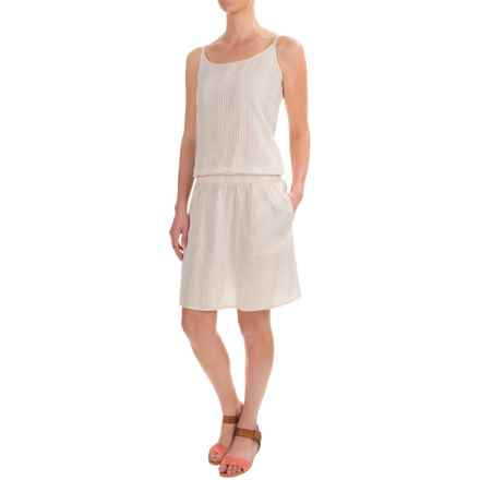 dylan Hippie Striped Romper Dress - Sleeveless (For Women) in Shimmer White/Natural - Closeouts