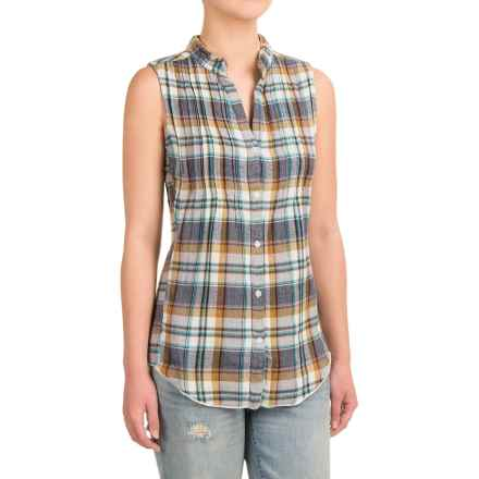 dylan Hippie Vibe Flannel Shirt - Sleeveless (For Women) in Multi - Closeouts