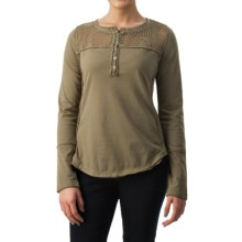 dylan Homestead Henley Shirt - Long Sleeve (For Women) in Cargo - Closeouts