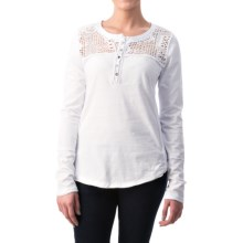 dylan Homestead Henley Shirt - Long Sleeve (For Women) in White - Closeouts