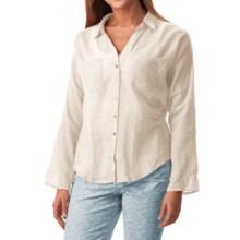 dylan Ibiza Crochet Shirt - Long Sleeve (For Women) in White - Closeouts