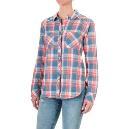 dylan Indigo Plaid Shirt Jacket - Long Sleeve (For Women) in Blue Santa Barbara - Closeouts