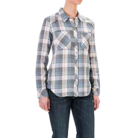 dylan Indigo Plaid Shirt Jacket - Long Sleeve (For Women) in Heather - Closeouts