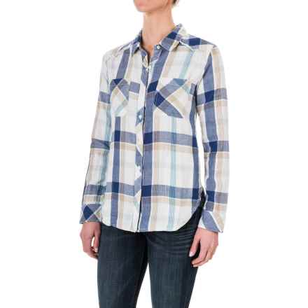 dylan Indigo Plaid Shirt Jacket - Long Sleeve (For Women) in Natural Malibu - Closeouts