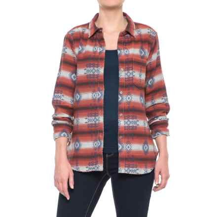 dylan Jackson Shirt - Long Sleeve (For Women) in Brick Red - Closeouts