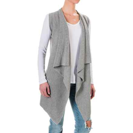 dylan Long Drape Sweater Vest (For Women) in Heather - Closeouts