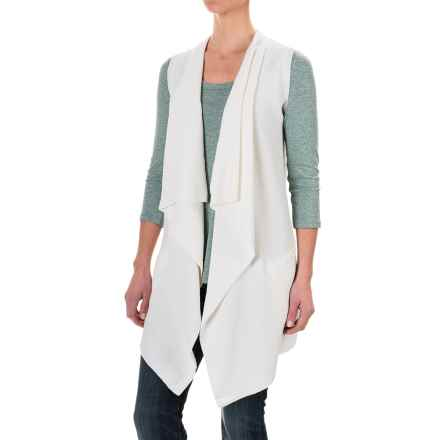 dylan Long Drape Sweater Vest (For Women) in White - Closeouts