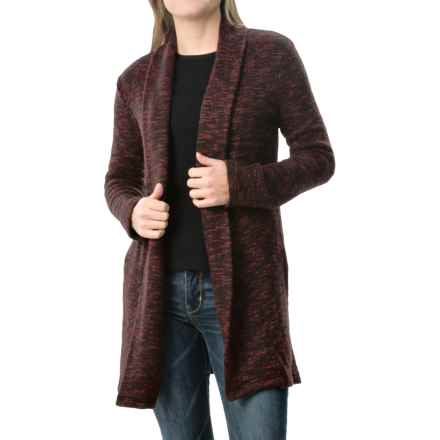 dylan Long Lodge Cardigan Sweater (For Women) in Red - Closeouts