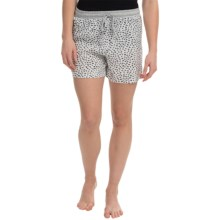 dylan Love & Stars Drawstring Boxer Shorts (For Women) in Love Hearts/Vintage White - Closeouts