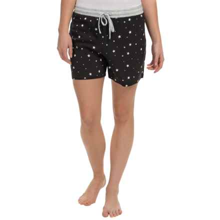 dylan Love & Stars Drawstring Boxer Shorts (For Women) in Star Light/Black - Closeouts