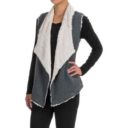 dylan Luxe Fleece Drape Vest (For Women) in Vintage Black - Closeouts