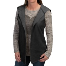 dylan Luxe Hooded Vest - Reversible (For Women) in Black - Closeouts