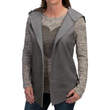 dylan Luxe Hooded Vest - Reversible (For Women) in Grey - Closeouts