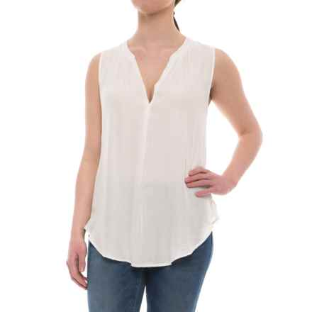 dylan Luxe Long Tunic Tank Top (For Women) in Faded White - Closeouts