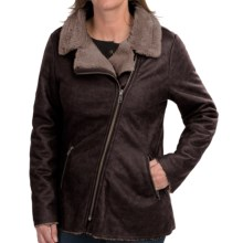 dylan Luxe Moto Jacket (For Women) in Vintage Black - Closeouts