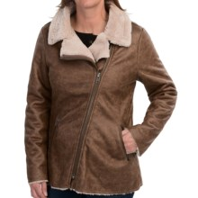 dylan Luxe Moto Jacket (For Women) in Vintage Brown - Closeouts