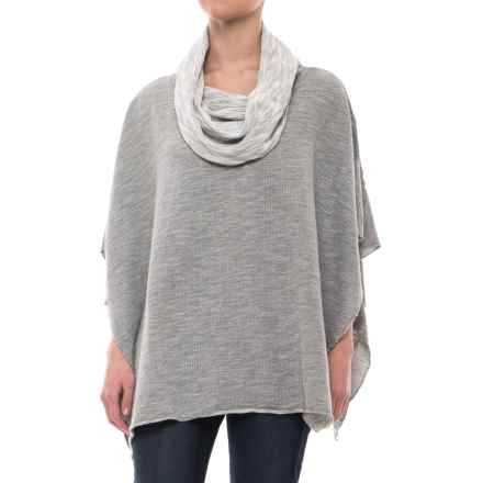 dylan Luxe Slub Free Spirit Reversible Poncho - Short Sleeve (For Women) in Heather - Closeouts
