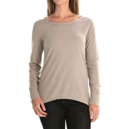 dylan Luxe Suede-Knit Shirt - Long Sleeve (For Women) in Blush - Closeouts
