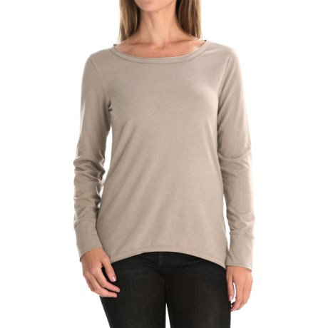 dylan Luxe Suede-Knit Shirt - Long Sleeve (For Women) in Blush