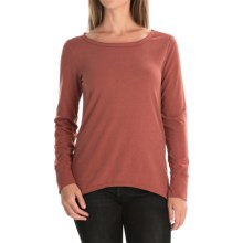 dylan Luxe Suede-Knit Shirt - Long Sleeve (For Women) in Brick - Closeouts