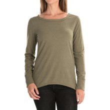 dylan Luxe Suede-Knit Shirt - Long Sleeve (For Women) in Cargo - Closeouts