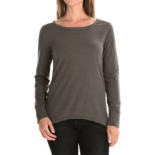 dylan Luxe Suede-Knit Shirt - Long Sleeve (For Women) in Charcoal - Closeouts