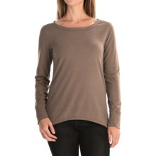 dylan Luxe Suede-Knit Shirt - Long Sleeve (For Women) in Cocoa - Closeouts