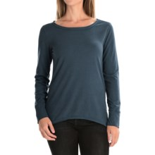 dylan Luxe Suede-Knit Shirt - Long Sleeve (For Women) in Indigo - Closeouts