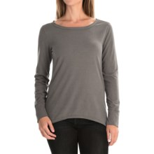 dylan Luxe Suede-Knit Shirt - Long Sleeve (For Women) in Vintage Grey - Closeouts