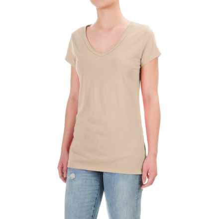 dylan Luxe T-Shirt - V-Neck, Short Sleeve (For Women) in Faded Army - Closeouts