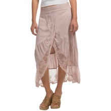 dylan Malibu Ranch Wedding Skirt - Lace Hem (For Women) in Icey Mauve - Closeouts