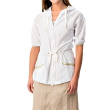 dylan Mesa Anorak Jacket - Elbow Sleeve (For Women) in White - Closeouts
