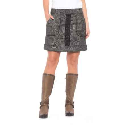 dylan Modern Stripe Lace and Tweed Skirt (For Women) in Black - Closeouts