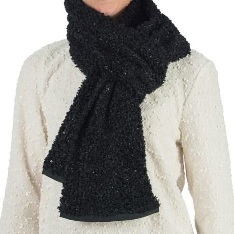 dylan Mohair Sequin Scarf (For Women) in Black