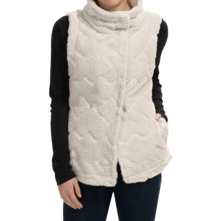 dylan Navajo Canyon Vest - Faux Fur (For Women) in Winter White - Closeouts