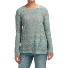dylan Navajo French Terry Shirt - Long Sleeve (For Women) in Chambray - Closeouts